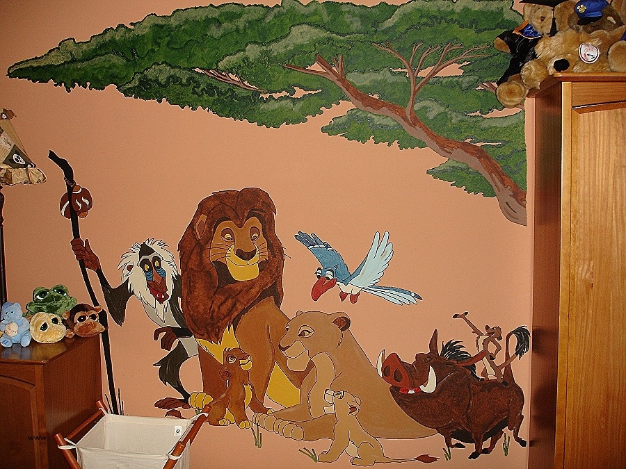 Wall Decor: Lion Wall Decor New Perfect Lion King Wall Decor Image Regarding Lion King Wall Art (Image 25 of 25)
