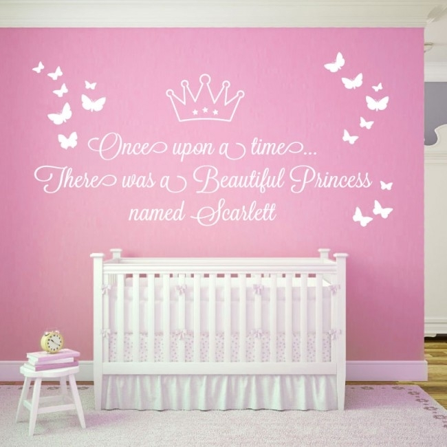 Wall Designer | Once Upon A Time , There Was A Beautiful Princess Regarding Name Wall Art (View 12 of 25)