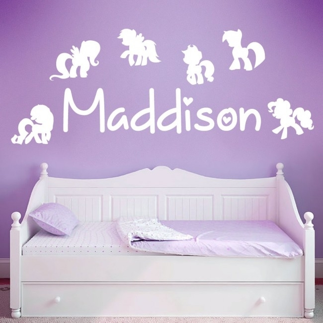Wall Designer | Personalised Name Girls Wall Art Sticker – My Little With Regard To My Little Pony Wall Art (View 20 of 20)