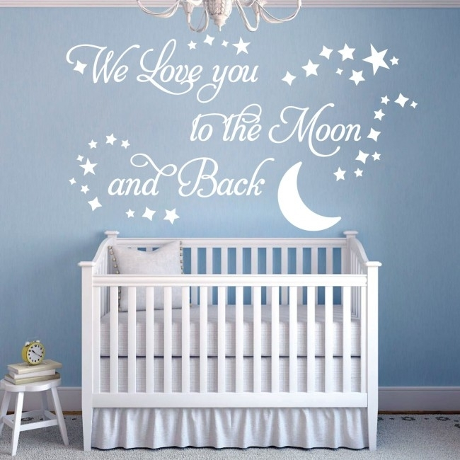 Wall Designer | We Love You To The Moon And Back – Vinyl Wall Art With Regard To I Love You To The Moon And Back Wall Art (View 7 of 20)