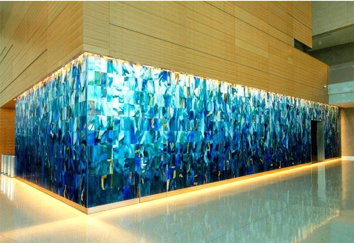 Wall Glass Artwork Pretty Inspiration Wall Glass Art Best Interior With Regard To Glass Wall Art (Image 10 of 10)