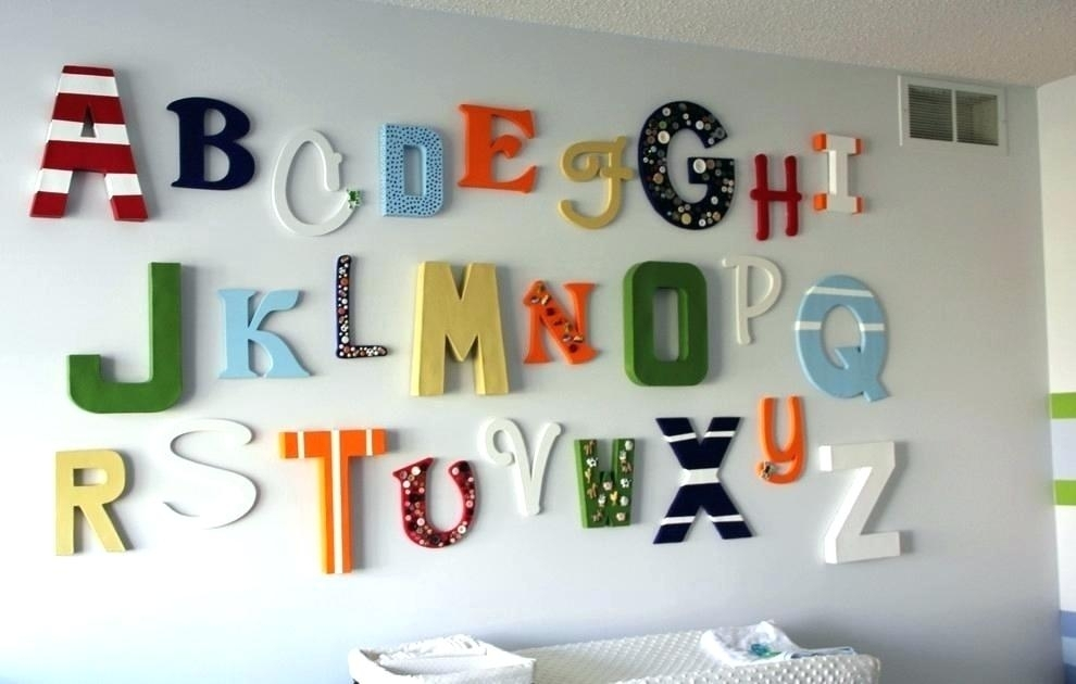 Wall Letters Decorative Wall Letters Decor Charming Decorative In Letter Wall Art (View 6 of 25)