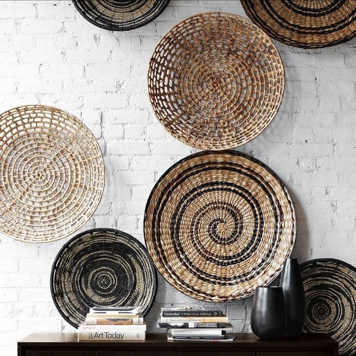 Wall: Mesmerizing Woven Basket Wall Art Flat Best 25 Baskets On For Woven Basket Wall Art (Image 9 of 25)