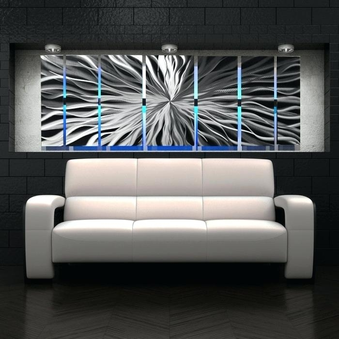 Wall Metal Arts Large Wall Art Sculpture Contemporary Metal Wall Art With Regard To Wall Art Panels (Image 19 of 25)