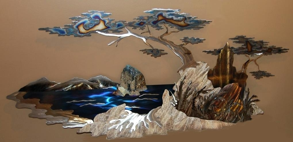 Wall Metal Arts Wall Art Sculpture Glow Metal Wall Art Trees And Within Metal Wall Art Sculptures (Image 10 of 10)