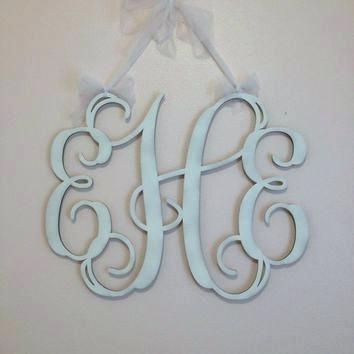 Wall Monograms Wooden Wall Monogram Monogrammed Gifts Home Decor For Monogram Wall Art (Image 24 of 25)
