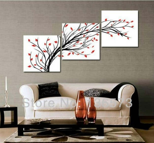 Wall Paintings For Living Room Handmade Simple Abstract Painting 3 With Regard To Art For Walls (Image 25 of 25)