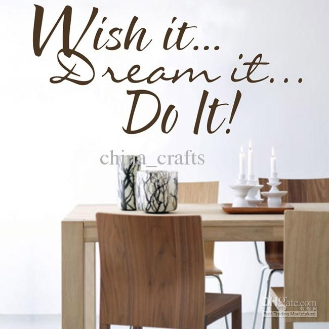 Wall Quote Decals Vinyl Wall Art Stickers Room Wall Decor Kids Wall Throughout Quote Wall Art (Image 24 of 25)