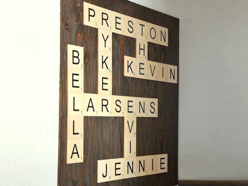 Wall Scrabble Craft O Scrabble Wall Art Hang Wooden Wall Scrabble For Scrabble Wall Art (Image 23 of 25)