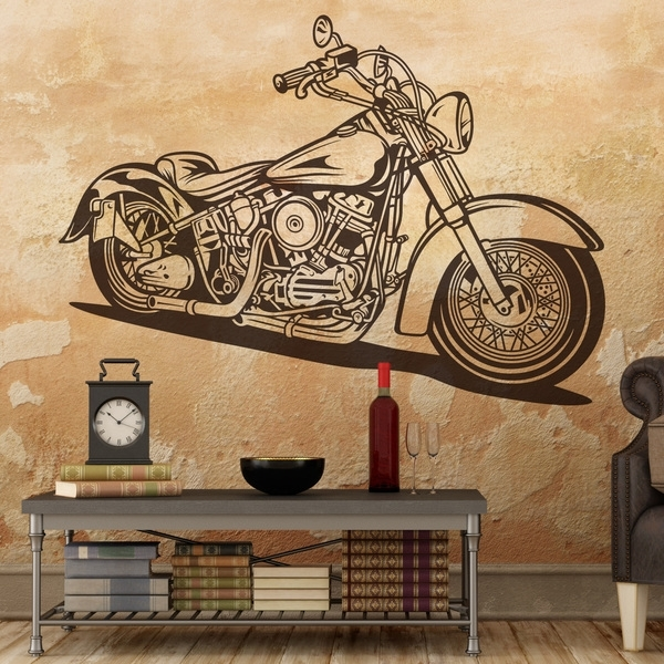 Wall Stickers Harley Davidson Softail Classic Pertaining To Harley Davidson Wall Art (View 23 of 25)