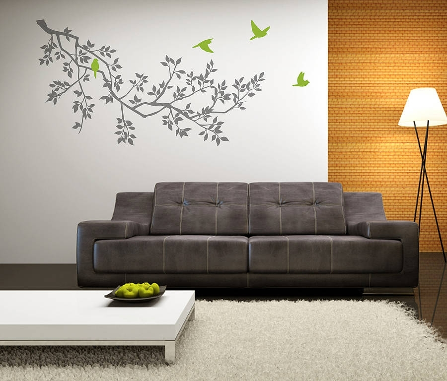 Wall Stickers: Spring Branches Greyzazous | Notonthehighstreet With Regard To Wall Sticker Art (Image 10 of 10)