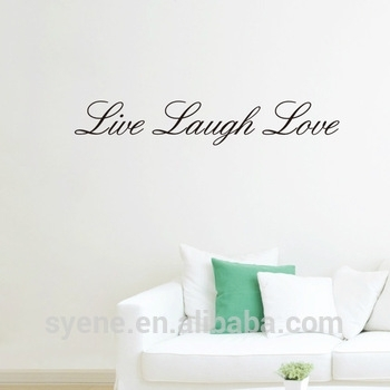 Wallpaper For Roof Decoration 3D Art Vinyl Quotes Live Laugh Love Regarding Live Laugh Love Wall Art (View 22 of 25)