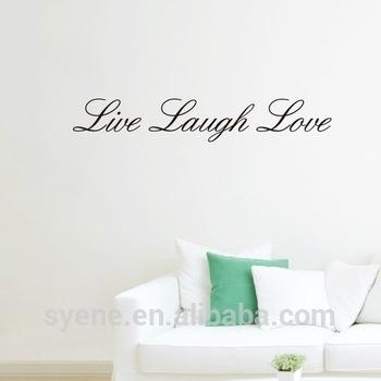 Wallpaper For Roof Decoration 3D Art Vinyl Quotes Live Laugh Love Regarding Live Laugh Love Wall Art (Image 25 of 25)