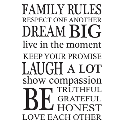 Wallpops Family Rules Wall Art Kit | Lowe's Canada Throughout Family Rules Wall Art (Image 20 of 20)