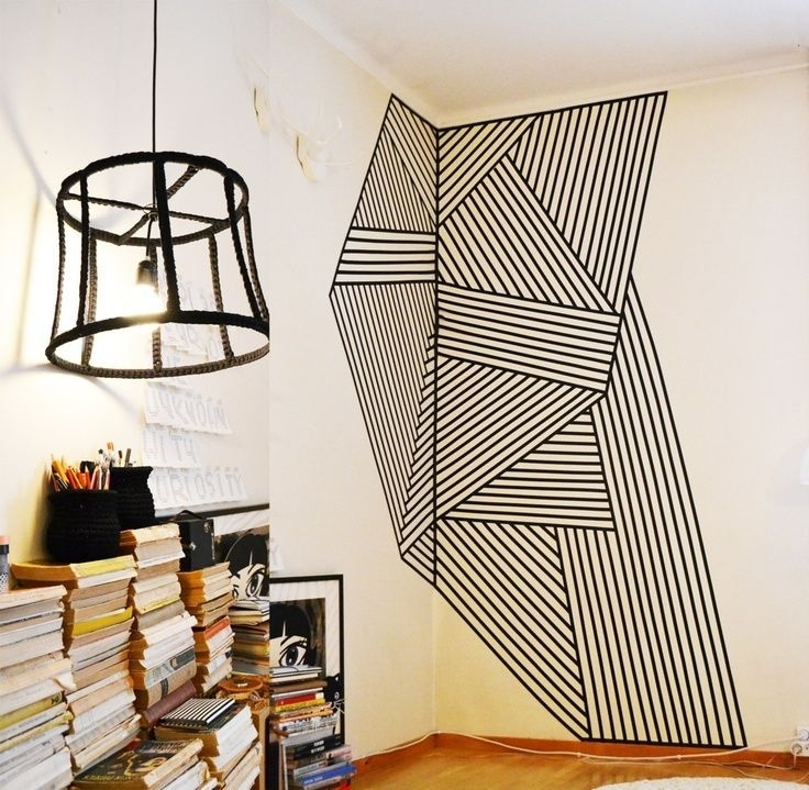 Washi Tape Corner Wall Art | Proyecto Redecoracion | Pinterest For Washi Tape Wall Art (View 14 of 20)