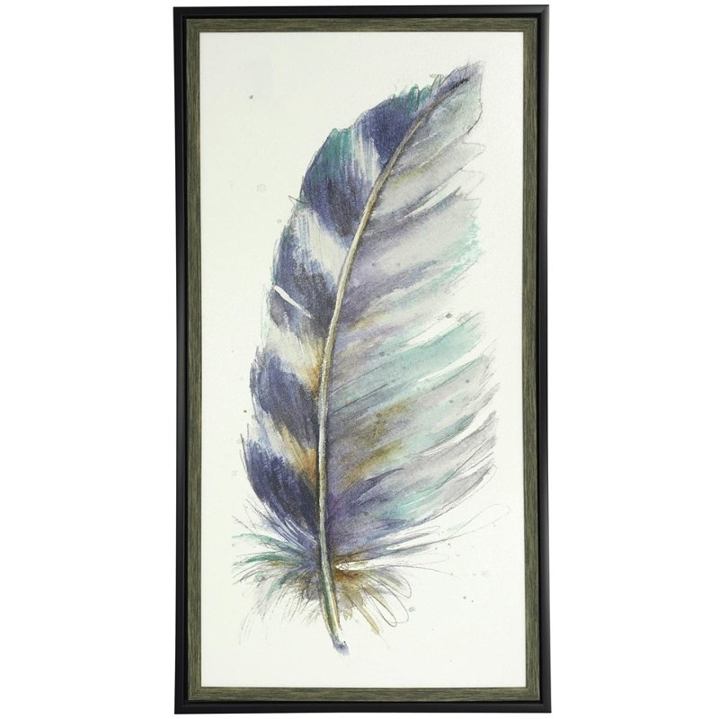 Water Color V Feather Wall Art | Rc Willey Furniture Store With Regard To Feather Wall Art (View 16 of 25)