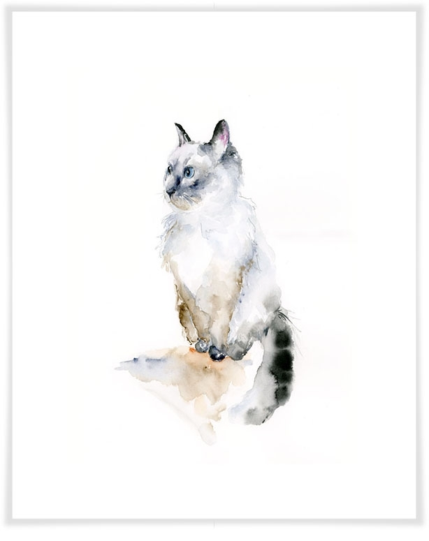 Watercolor Ragdoll Cat, Dogs & Cats Canvas Wall Art | Greenbox Pertaining To Cat Canvas Wall Art (View 21 of 25)