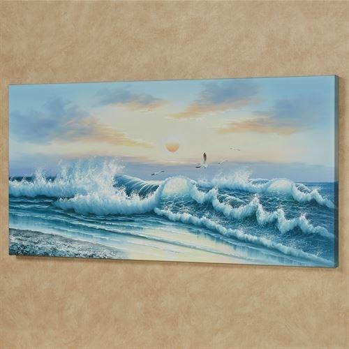 Wave Of Wonder Ii Handpainted Ocean Canvas Wall Art Inside Ocean Wall Art (View 15 of 25)