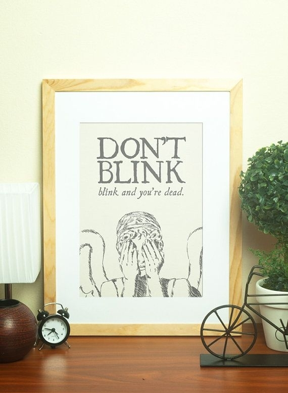 Weeping Angel Don't Blink Print, Doctor Who Wall Art, Doctor Who With Doctor Who Wall Art (Image 10 of 10)