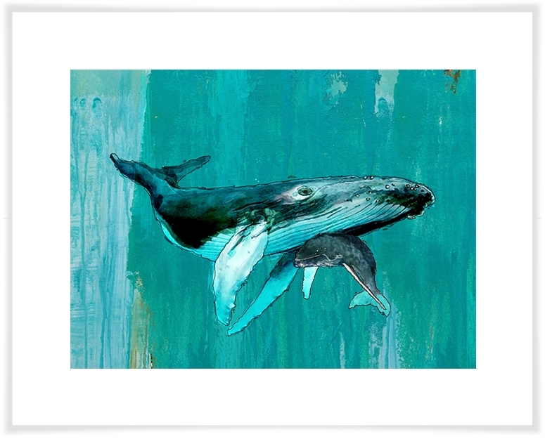 Whale & Calf, Beach & Ocean Canvas Wall Art | Greenbox Intended For Whale Canvas Wall Art (Image 20 of 25)