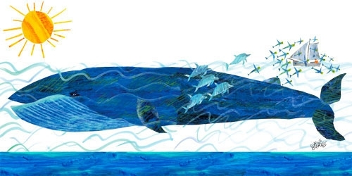 Whale Canvas Wall Art | The Eric Carle Museum Of Picture Book Art Regarding Whale Canvas Wall Art (Image 21 of 25)
