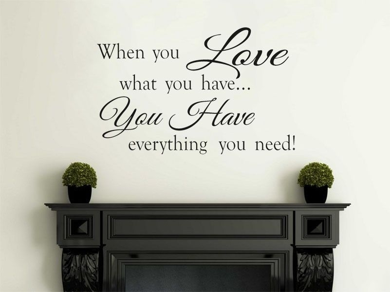 When You Love Family Wall Art Quote Vinyl Wall Art Decal Wall Sticker For Family Wall Art (View 10 of 10)