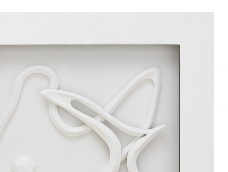 White Abstract 3D Wall Art For White Wall Art (Image 15 of 20)
