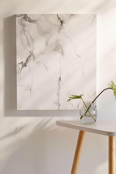 White And Gray Marble Canvas Wall Art With Gray Canvas Wall Art (View 8 of 25)