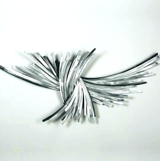 White And Silver Wall Decor Beautiful Silver Metal Wall Art White For Silver Metal Wall Art (Image 25 of 25)