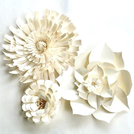 White Flower Wall Decor Flower Wall Decor Floral Wall Art Metal In Floral Wall Art (View 11 of 20)