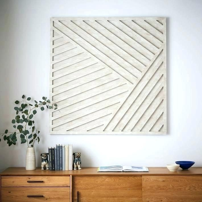 White Wood Wall Art White Wood Wall Decor West Elm Wall Decor Wall Pertaining To West Elm Wall Art (View 12 of 25)