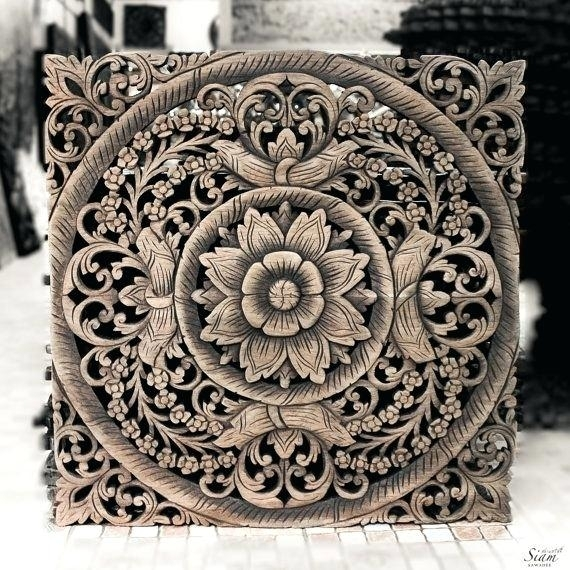 White Wooden Wall Decor Wood For Wall Like This Item White Wood Intended For Wood Medallion Wall Art (View 20 of 25)