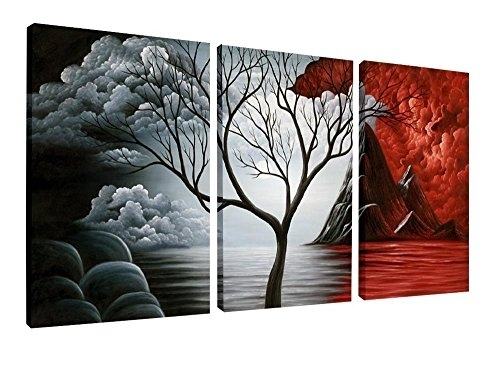Wieco Art – Oil Paintings Reproduction Canvas Print Modern Canvas In Wall Art Paintings (View 19 of 25)