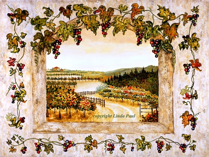 Wine Decor – Grapes, Vine, Vineyard Art On Canvas And Tile Pertaining To Tile Canvas Wall Art (Image 25 of 25)