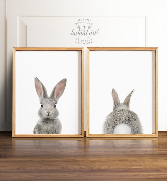 Winsome Bunny Wall Art – Ishlepark Throughout Bunny Wall Art (View 17 of 20)