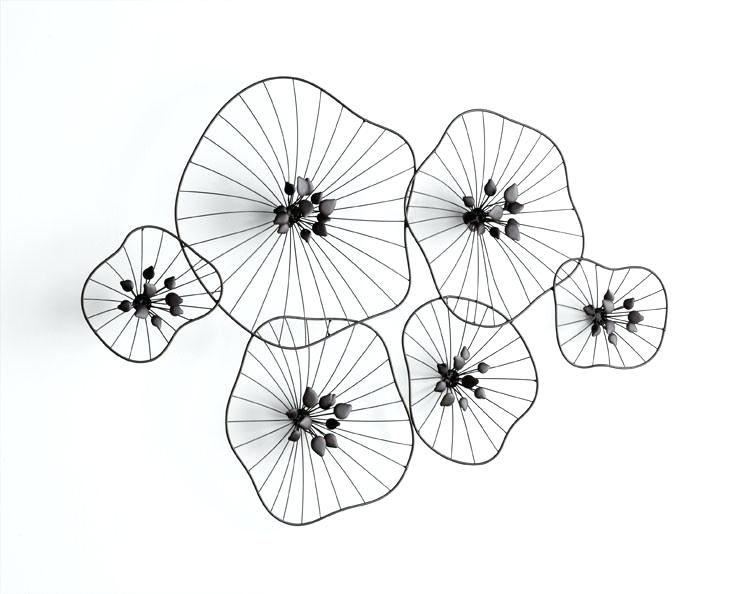 Wire Wall Art Decors Wire Wall Decor Beauteous Iron Wire Floral Wall Inside Wire Wall Art (View 9 of 25)
