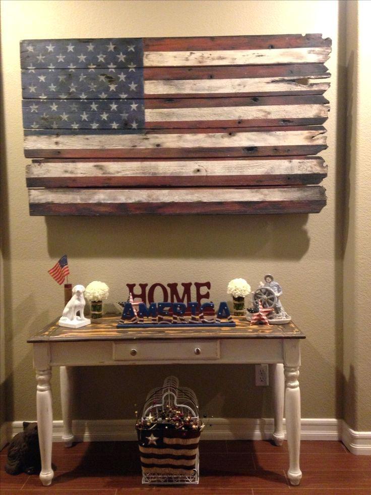 Wood American Flag Wall Decor Art Happy Customer On American Flag Intended For Wooden American Flag Wall Art (Image 12 of 25)