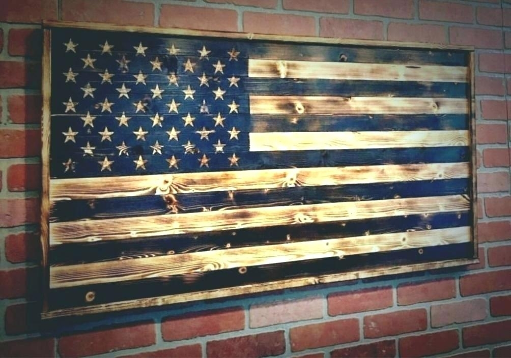 Wood American Flag Wall Decor Flag Wood Wall Art Wall Arts Large Within Rustic American Flag Wall Art (Image 22 of 25)