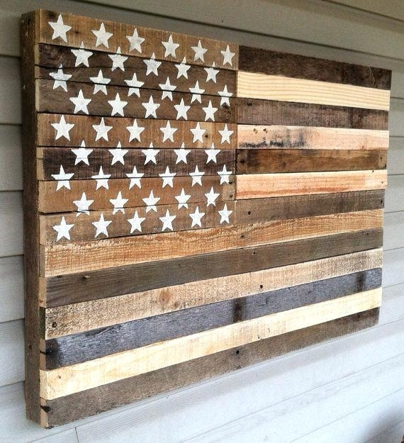 Wood And Metal American Flag Metal Flag Wall Art Art Most Within Rustic American Flag Wall Art (View 20 of 25)