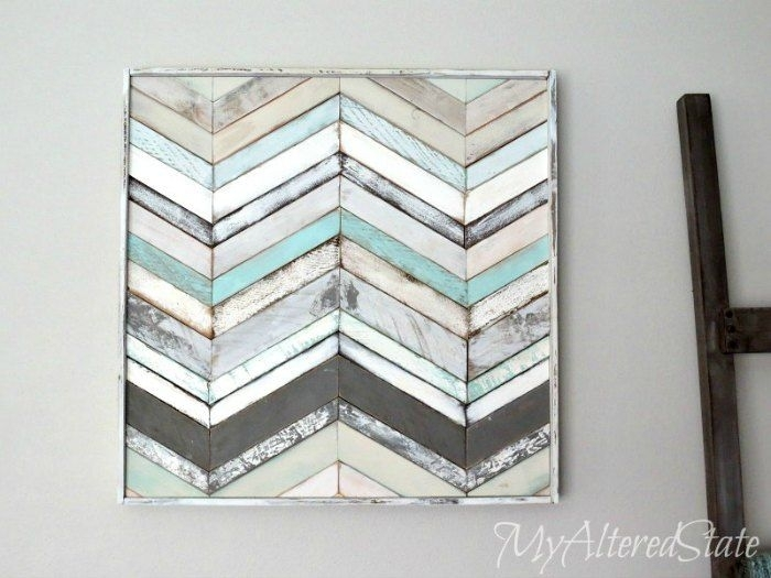 Wood Art Video Tutorial | Diy Ideas | Pinterest | Walls, Wood Art Inside Chevron Wall Art (View 13 of 25)