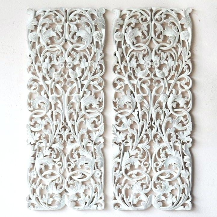 Wood Carved Wall Art White Wooden Carved Wall Art Wooden Carved Tree In Wood Carved Wall Art (Image 22 of 25)