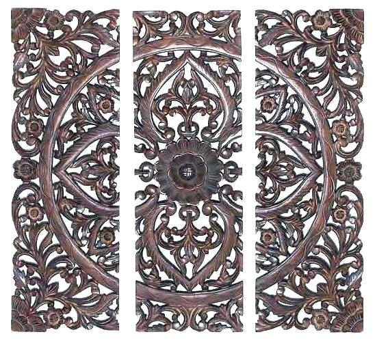 Wood Carvings Wall Decor Carved Medallion Wall Art Wood Medallion Regarding Medallion Wall Art (View 21 of 25)