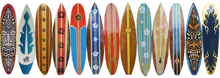Wood Decorative Surfboard Wall Art Beach Decor Intended For Surfboard Wall Art (Image 23 of 25)