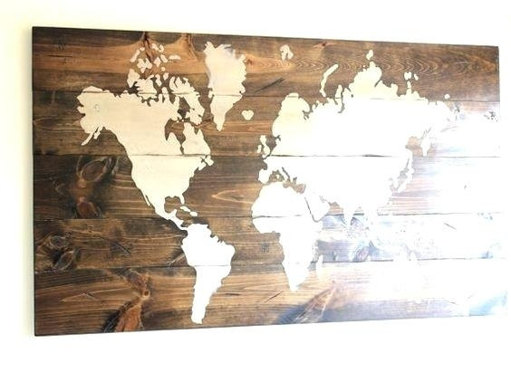 Wood Map Wall Art Featured Image Of Wood Map Wall Art World Map Wood Regarding Maps Wall Art (View 25 of 25)