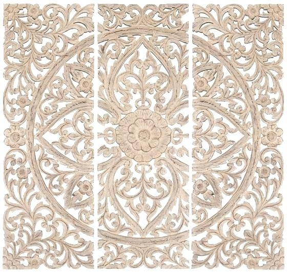 Wood Medallion Wall Art Large Wall Medallions Beauteous Neat Design In Wood Medallion Wall Art (Image 17 of 25)