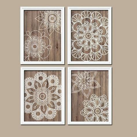 Wood Medallion Wall Decor Art Artwork Mandala Wood Grain Doilies Regarding Wood Medallion Wall Art (View 8 of 25)