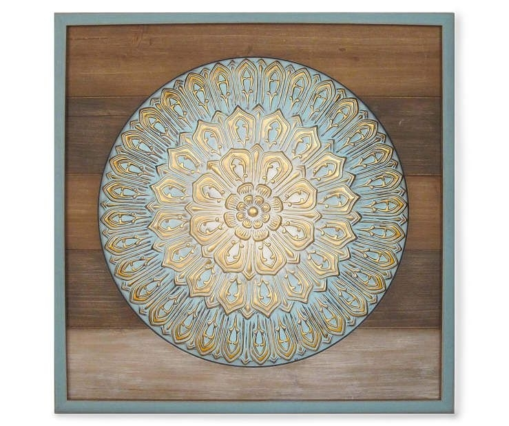 "Wood & Metal Medallion Wall Art, (24"" X 24"") At Big Lots (View 18 of 25)"