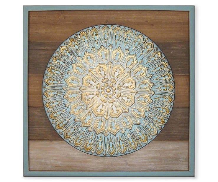 """Wood & Metal Medallion Wall Art, (24"""" X 24"""") At Big Lots (Image 22 of 25)"""