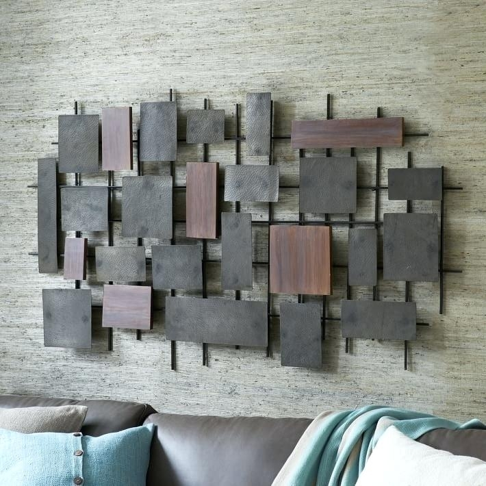 Wood Metal Wall Decor Metal Wall Decor Wood Metal Panel Wall Decor Intended For Wood And Metal Wall Art (Image 23 of 25)