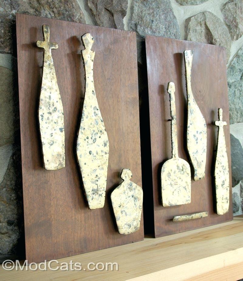 Wood Metal Wall Decor Wall Art Ideas Design Wonderful Handmade Metal Inside Wood And Metal Wall Art (Image 25 of 25)
